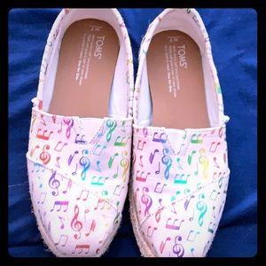 TOMS Rainbow Music Notes Espadrilles